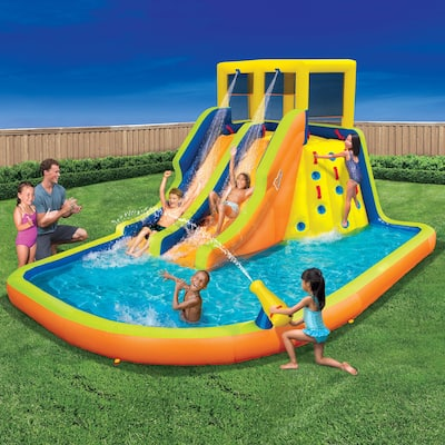 Banzai Double Drench Outdoor Water Park with Double Slides