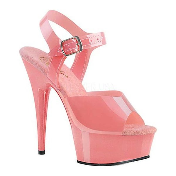 f9f0856baf94b Pleaser Women's Delight 608N Heeled Sandal Baby Pink Jelly TPU/Baby Pink
