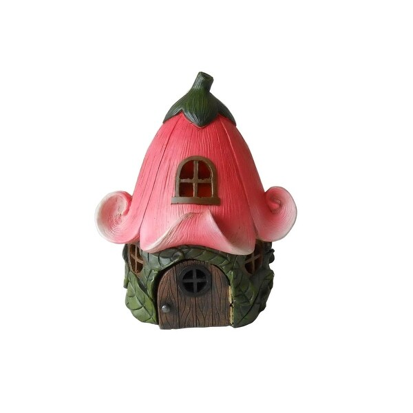 """9.5"""" Lily Flower Fairy House Garden Statue - N/A"""