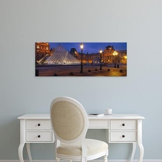 Easy Art Prints Panoramic Images's 'Pyramid at a museum, Louvre Pyramid, Musee Du Louvre, Paris, France' Canvas Art