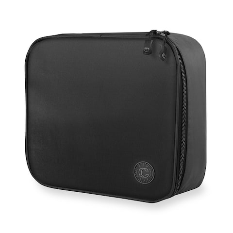 "Travel Makeup Organizer - Black by Carry Craft - 12"" x 10"" x 2"