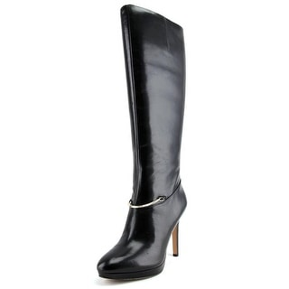 Nine West Pearson Round Toe Leather Knee High Boot