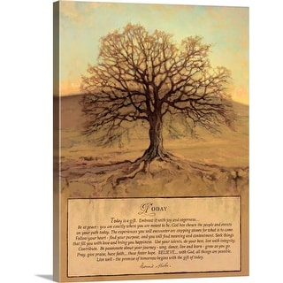 """""""Today"""" Canvas Wall Art"""