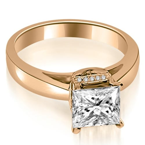 0.55 cttw. 14K Rose Gold Princess Cut Diamond Engagement Ring