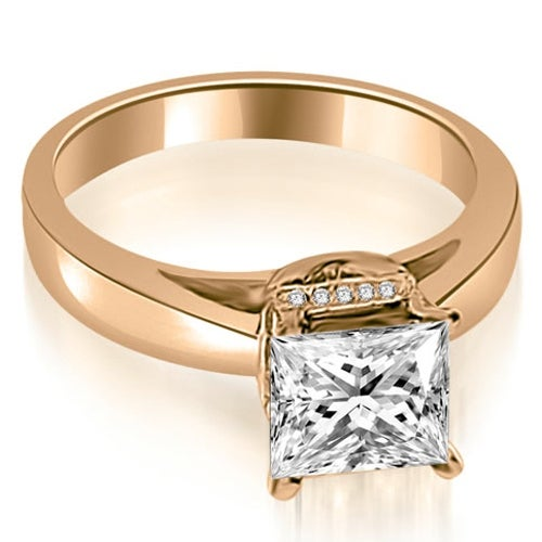 0.80 cttw. 14K Rose Gold Princess Cut Diamond Engagement Ring