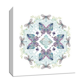 """PTM Images 9-147754  PTM Canvas Collection 12"""" x 12"""" - """"Nature's Kaleidoscope II"""" Giclee Leaves Art Print on Canvas"""