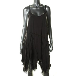 Free People Womens Casual Dress Asymmetric Frayed