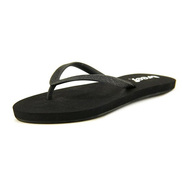Reef Stargazer Women Open Toe Synthetic Black Flip Flop Sandal