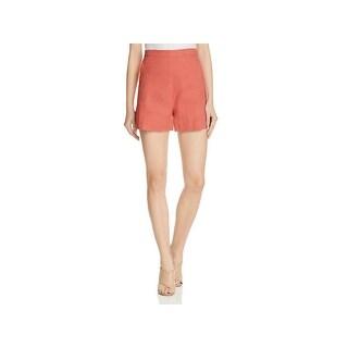 Theory Womens Tarrytown Casual Shorts Linen High Waist