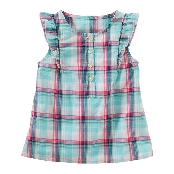 7575640def9d Shop OshKosh B gosh Little Girls  Plaid Poplin Top