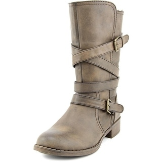 Report Jesslyn Women Round Toe Synthetic Brown Mid Calf Boot