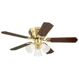 Westinghouse 7215100 Contempra Trio 3 Light 5 Blade Hugger Ceiling Fan with Reversible Motor, Reversible Blades and Light Kit