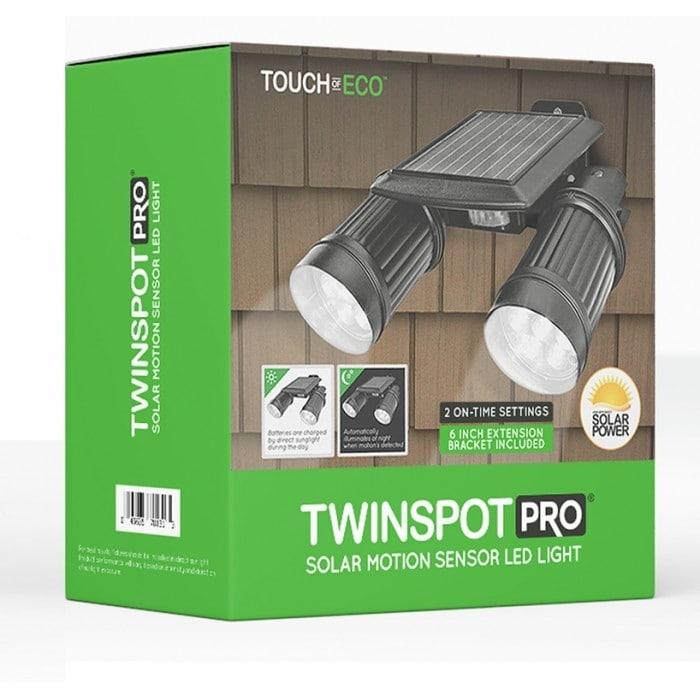TWINSPOT PRO Solar Motion sensor Dual Head LED Spotlight In Black - Thumbnail 1