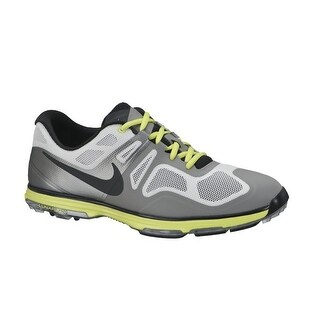 Nike Men's Lunar Ascend II Light Base Grey/Black/Venom Green Golf Shoes628340-002