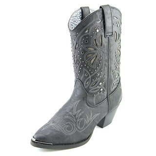 Dingo Lad 10 Women Pointed Toe Synthetic Black Western Boot