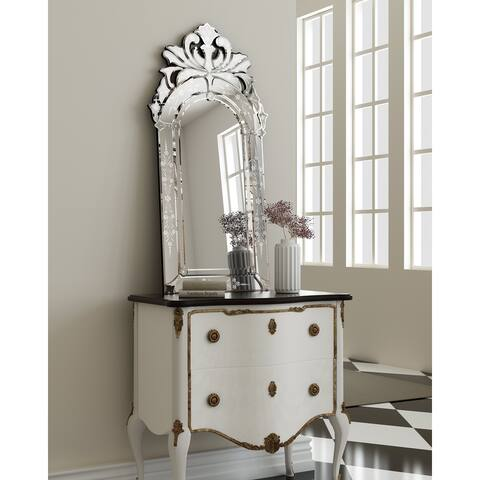KOHROS Modern Engraved Wall Mirror