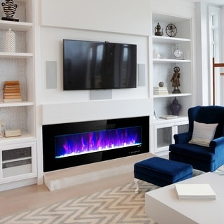 """Link to 50"""" Electric Fireplace Insert Firebox Wall Mounted 750W/1500W Similar Items in Fireplaces"""