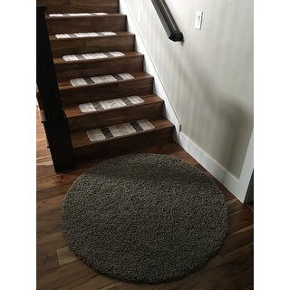 Ottomanson Softy Stair Treads Skid Resistant Rubber Backing Non Slip Carpet  Stair Treads  7 Pieces