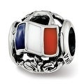 Sterling Silver Reflections Enameled French Theme Bead (4.5mm Diameter Hole) - Thumbnail 0