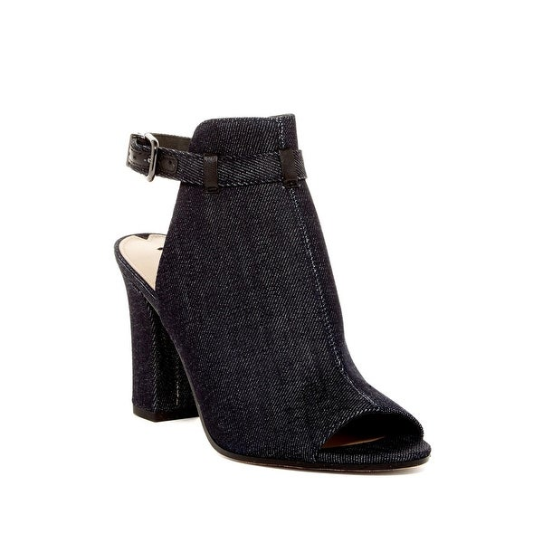 Via Spiga Womens Fabrizie 2 Peep Toe Ankle Strap Classic Pumps, DENIM, Size 6.0