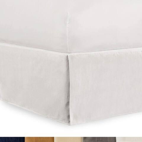 Tailored Velvet Bed Skirt with Split Corner