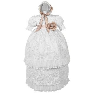 Rafael Collection Baby Boys 4 pc Cross Grapevine Vest Hat Baptism Outfit 3-24M