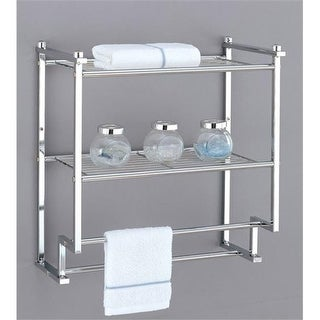 2 Tier Wall Mounting Rack with Towel Bars