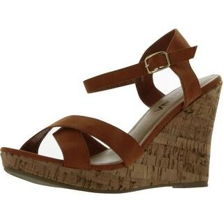 Diviana Women's Kealie-01 Wedge Sandals - Camel - 10 b(m) us