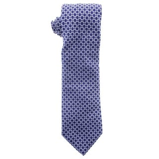 Zara Mens Silk Geometric Print Neck Tie - M