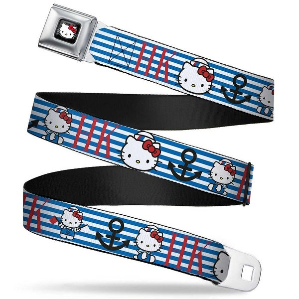 Hello Kitty W Red Bow Full Color Black Hello Kitty Summer Sailor W Stripes Seatbelt Belt