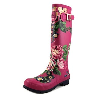 Joules Wellyprint Women Round Toe Synthetic Pink Rain Boot