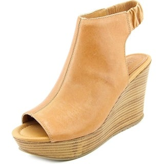 Kenneth Cole Reaction Sole Chick Women Open Toe Leather Wedge Sandal