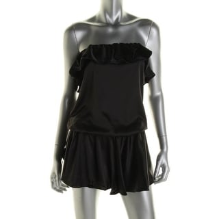 Rachel Lym Womens Scarlette Strapless Resort Wear Dress Swim Cover-Up