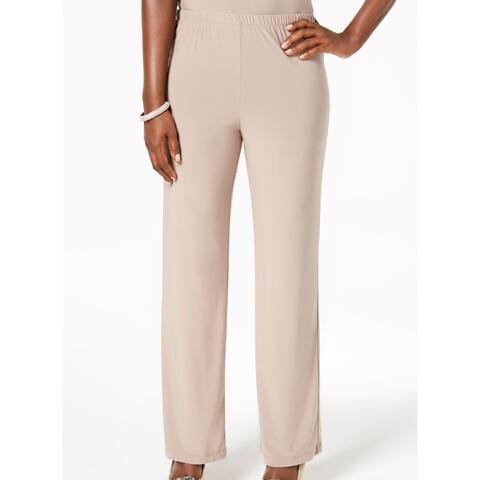 R&M Richards Women's Beige Size Large L Pull On Dress Pants Stretch