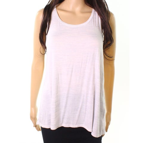 Moa Moa Heather Blue Womens Small Bow-Detail Tank Top