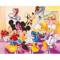 ''Mickey & Friends: Goofy's Soda Shop'' by Walt Disney Humor Art Print (16 x 20 in.)
