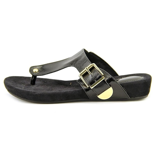 Giani Bernini Womens RYANNE Leather Open Toe Casual Slide Sandals