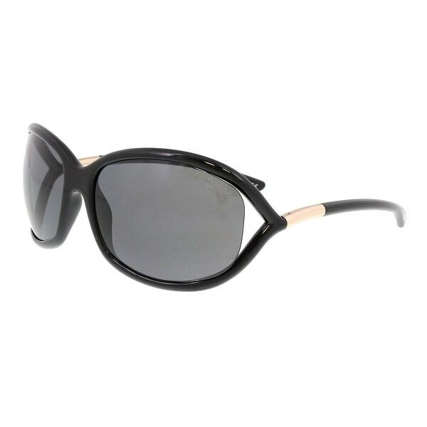 33f5cfd66509 Shop Tom Ford FT0008 01D Jennifer Black Oval Sunglasses - No Size ...