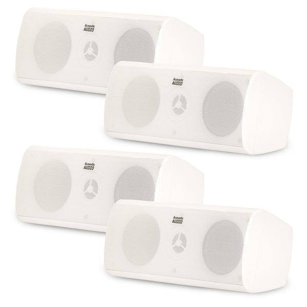 Acoustic Audio AA35CW Indoor 3 Way Speakers 1600W White 2 Pair Pack AA35CW-2PR
