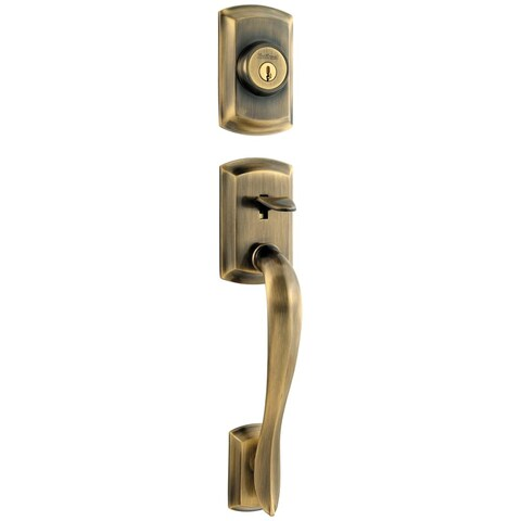 Kwikset 800AVH-LIP-S Avalon Single Cylinder Sectional Handleset with SmartKey, E - N/A