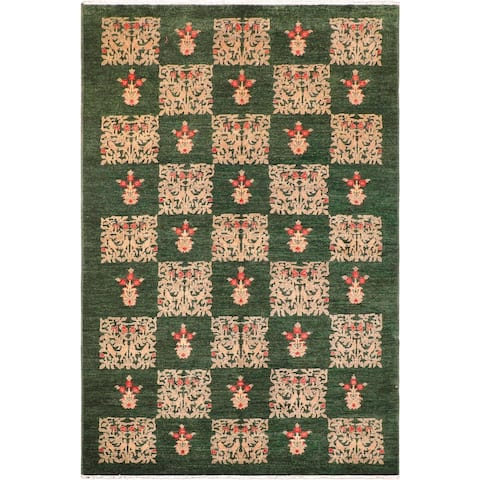 """Shabby Chic Ziegler Latia Hand Knotted Area Rug -6'1"""" x 9'5"""" - 6 ft. 1 in. X 9 ft. 5 in."""