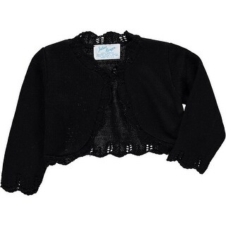 Julius Berger Baby Girls Black Scalloped Edge Mid Torso Classic Bolero