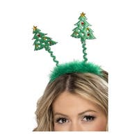 Christmas Tree Headband Bopper, Christmas Hair Accessories - Green - One Size Fits most