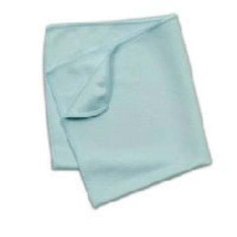 "Rubbermaid Q63006BL00 Hygen Microfiber Glass Cloth, 16"" x 16"", Blue"