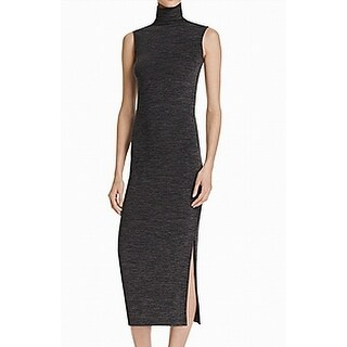 French Connection Womens Side-Slit Sheath Dress