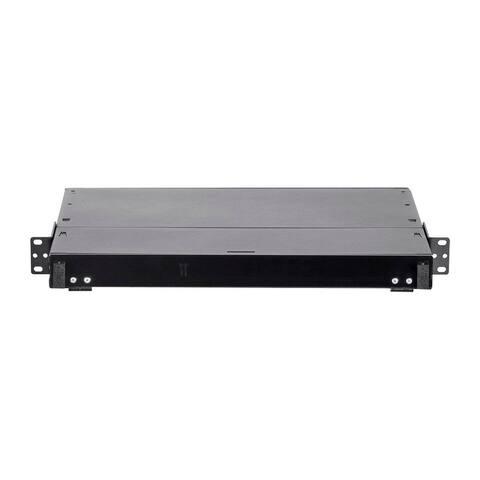 Monoprice High Density Fiber Optic Patch Panel - 19in Designed For 10G/40G/100G Data Center Fiber Network 1U