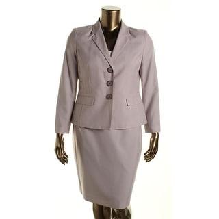 Le Suit Womens Petites The Hamptons Pinstripe 2PC Skirt Suit