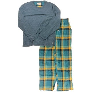 Penguin By Munsingwear Mens Plaid Sleepwear Two-Piece Pajamas - L