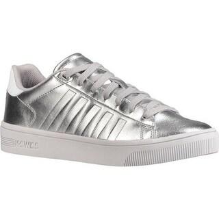 K-Swiss Women's Court Frasco Sneaker Silver/White/Barely Blue