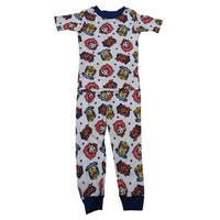 Nickelodeon Little Boys White Paw Patrol Short Sleeve 2 Pc Pajama Set